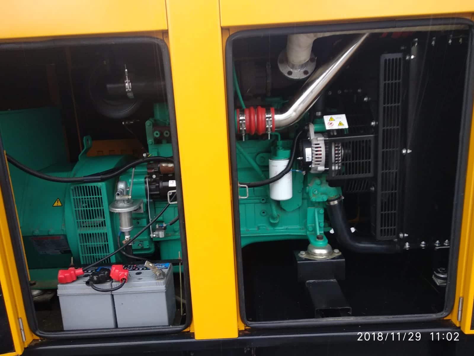 150 KVA Cummins Stamford Acoustic Used Generator 9