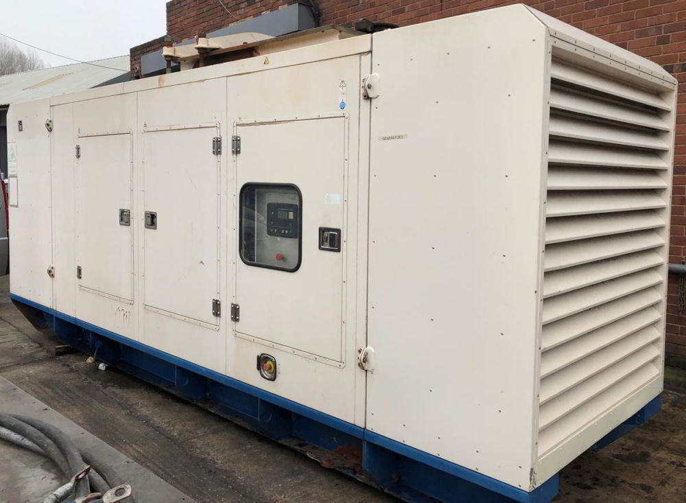 500 KVA F G Wilson Perkins Leroy Somer Acoustic Generator 1