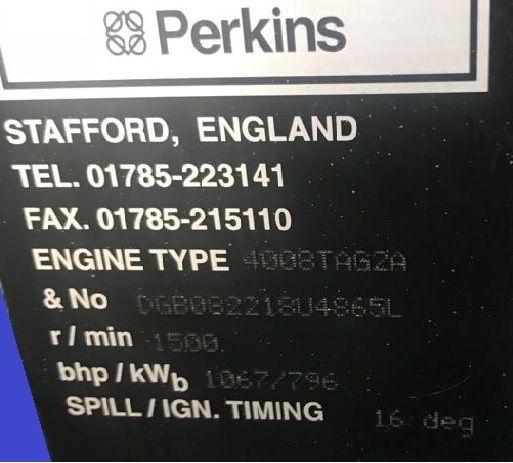 1100 Kva Perkins Stamford Open Type Generator details