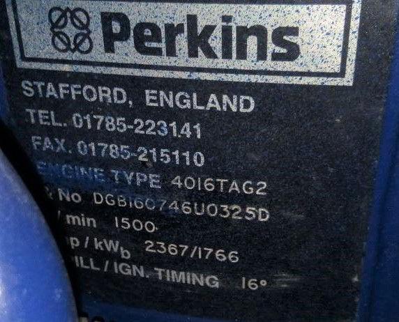 2200 KVA Perkins Stamford F G Wilson Generator details