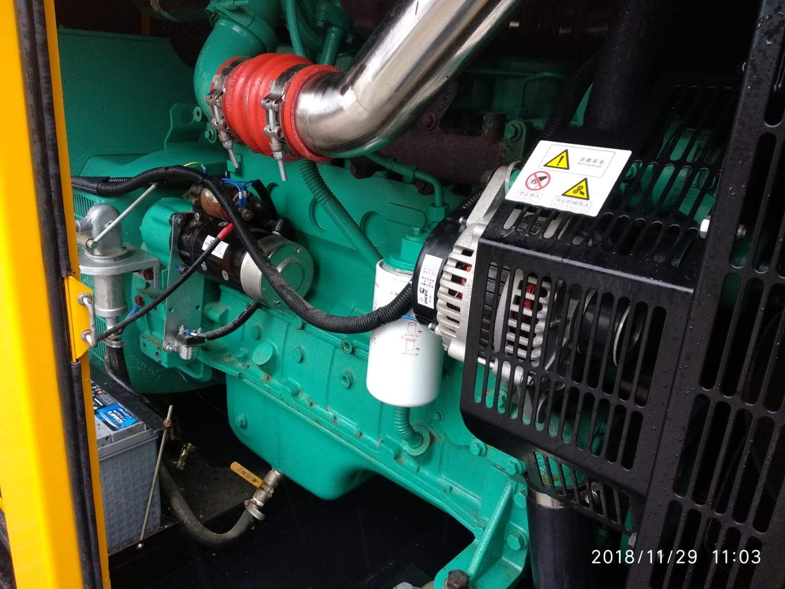 150 KVA Cummins Stamford Acoustic Used Generator 7