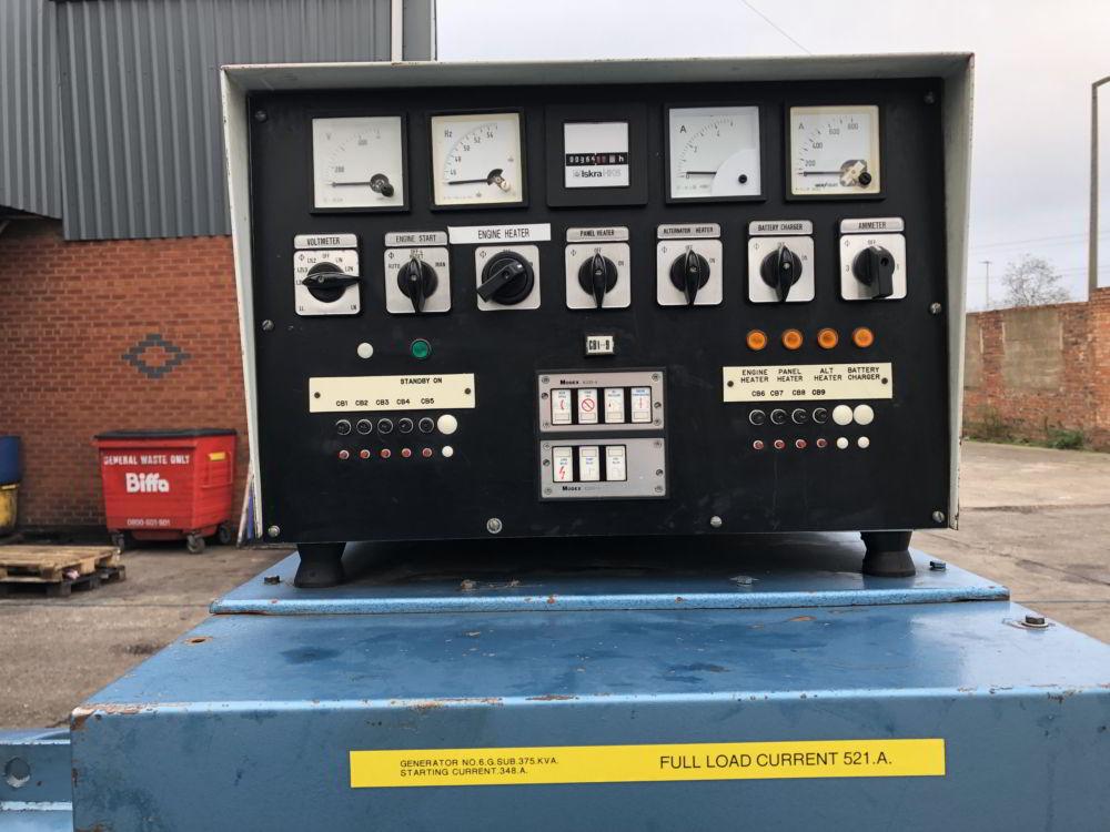 375 KVA Perkins Marelli Used Diesel Generator 7