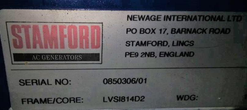 2200 KVA Perkins Stamford F G Wilson Generator details 2