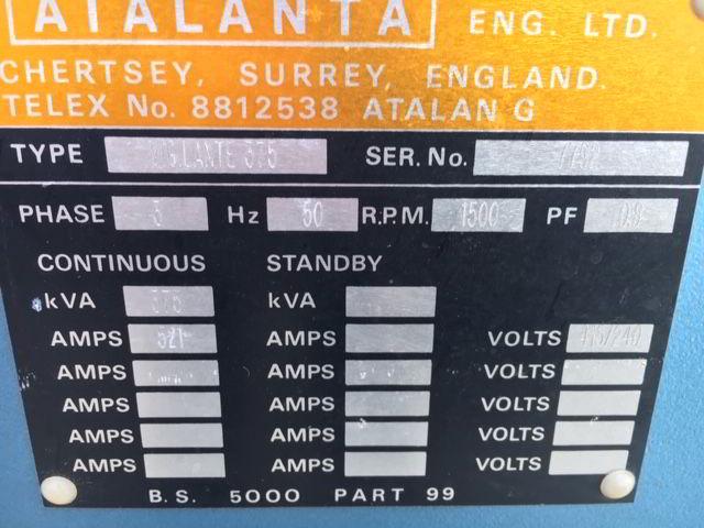 375 KVA Perkins Marelli Used Diesel Generator details