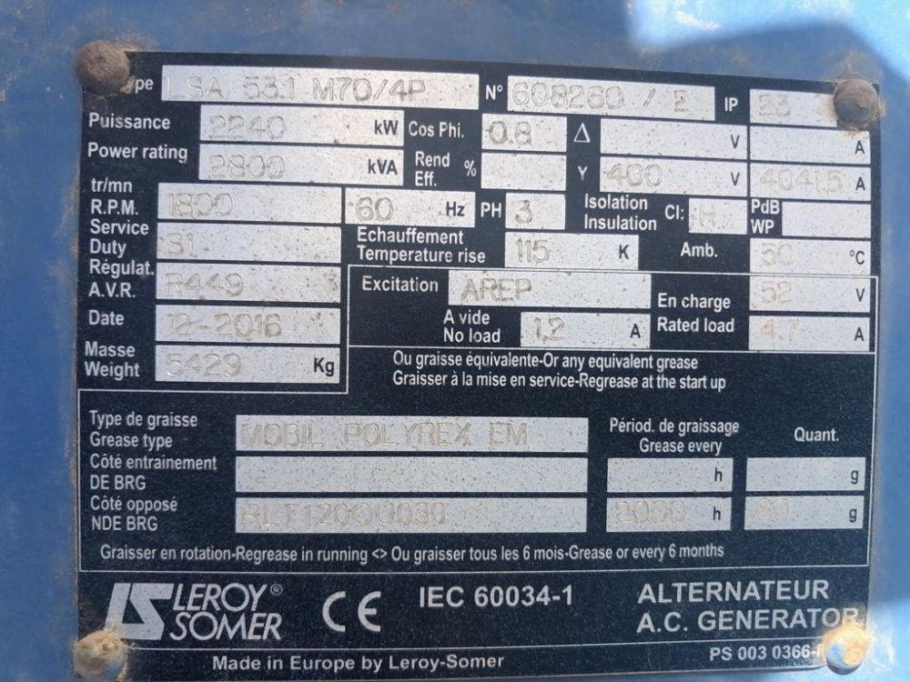 2 x 2587 SDMO MTU Leroy New information 3