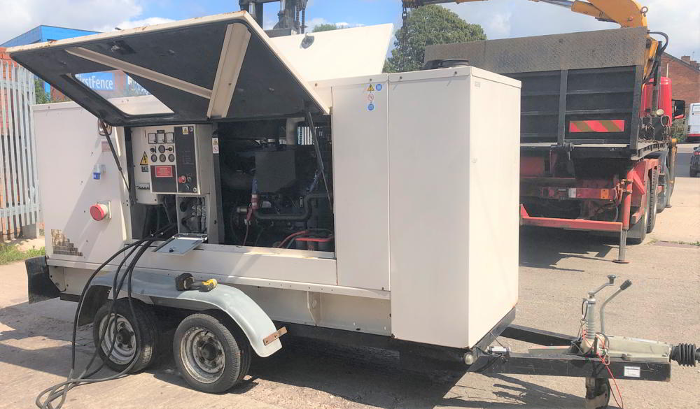 150 KVA PERKINS LEROY SOMER ACOUSTIC Trailer
