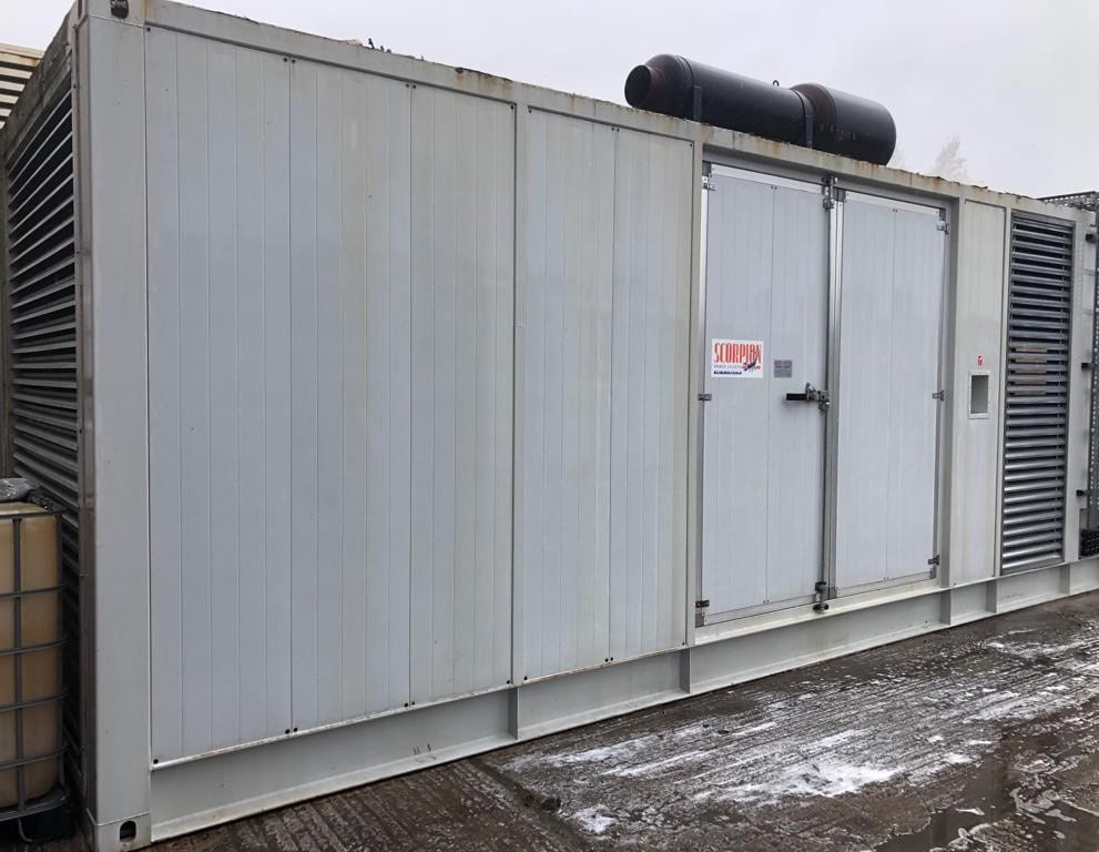 1125 kva Perkins/Meccalte fitted in an acoustic 23ft container