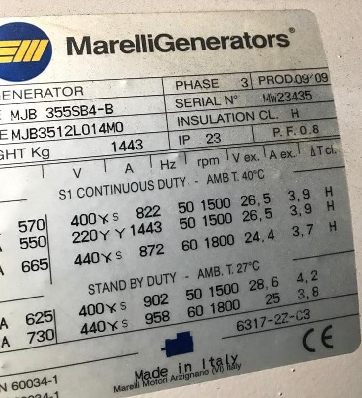 500 KVA Scania Marelli Acoustic Generator 14