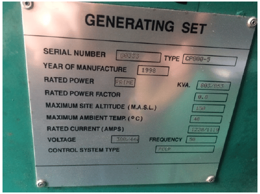 891 KVA Cummins Stamford in a 20 ft Acoustic Container 8