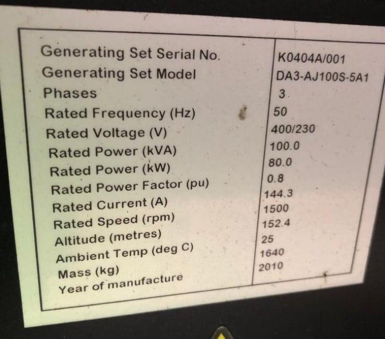 100 KVA AJ Power Sisu Acoustic Diesel Generator 5