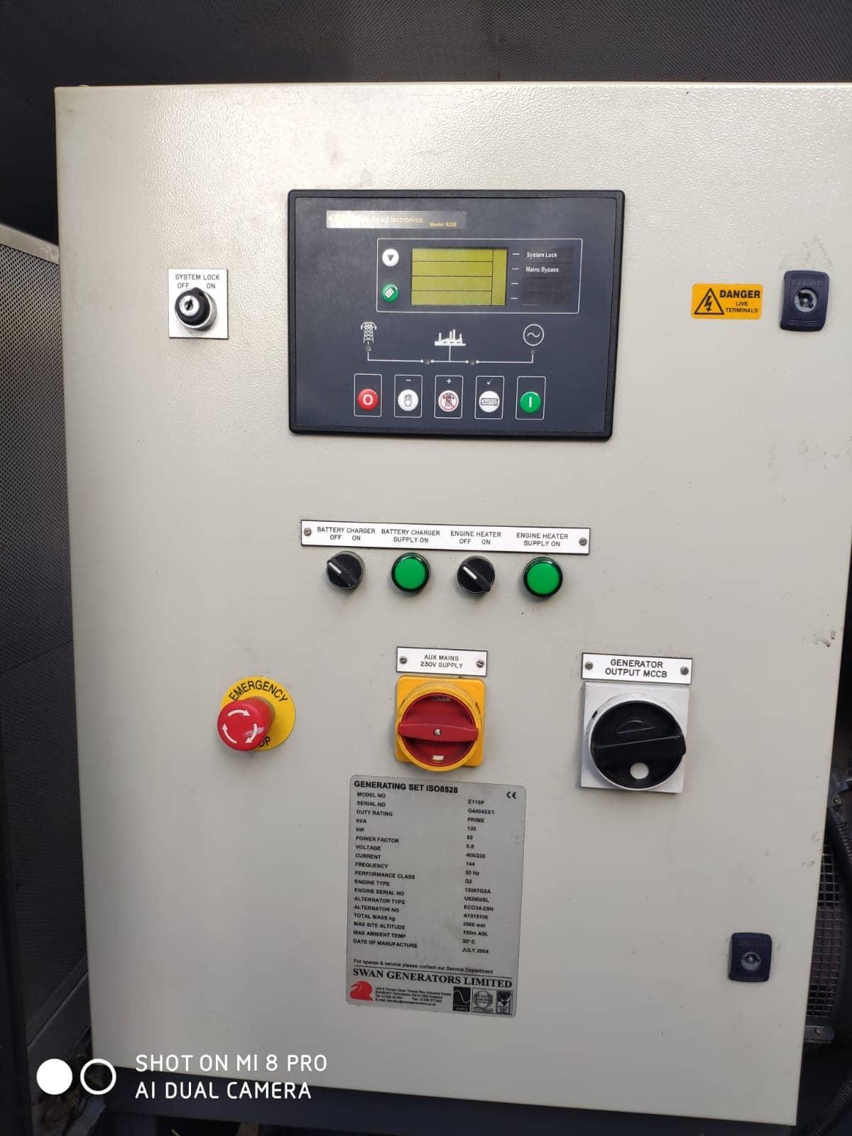 100 KVA Perkins MeccAlte Acoustic Generator 10