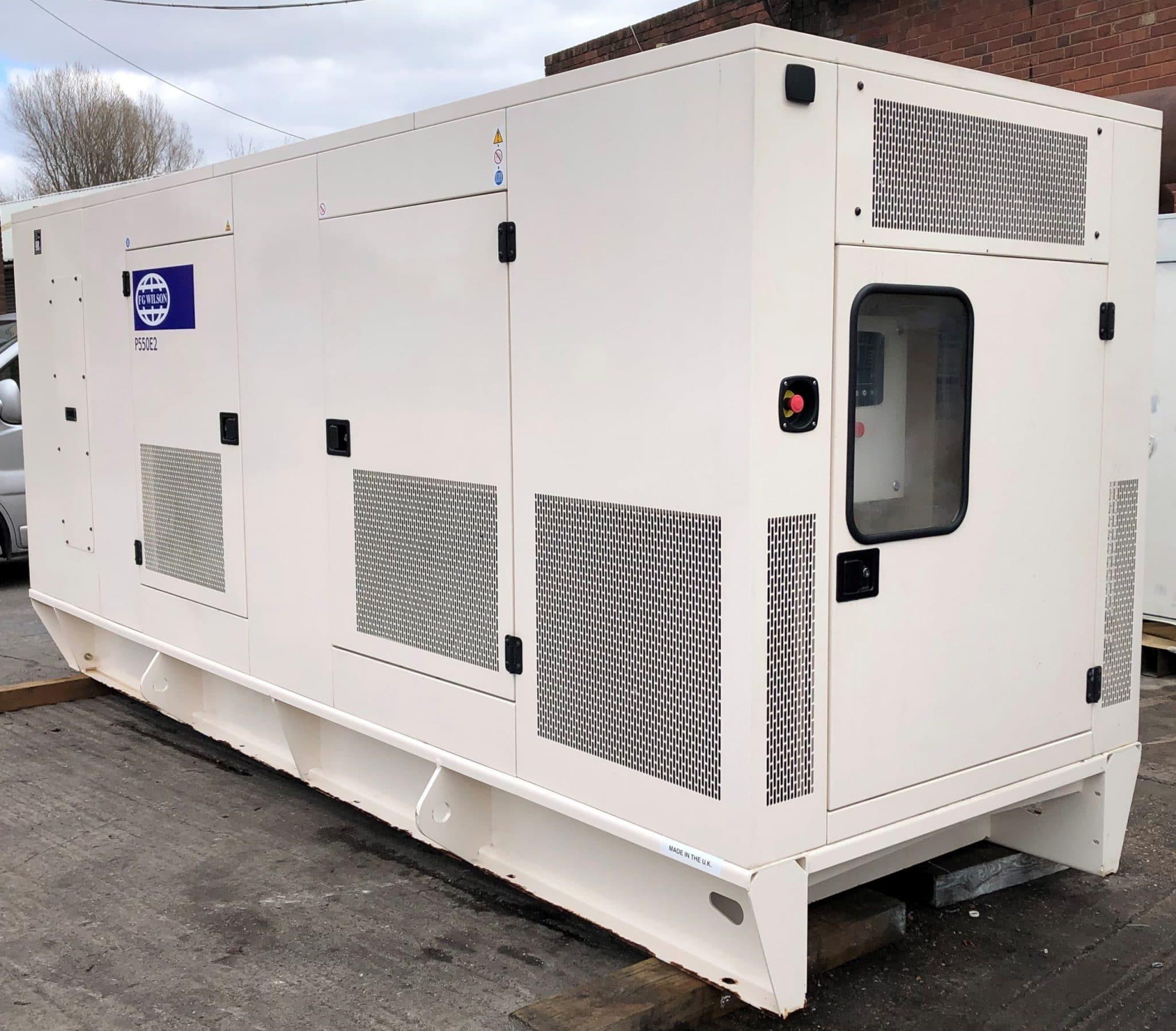 550 KVA F G Wilson Perkins Leroy Somer Acoustic Generator