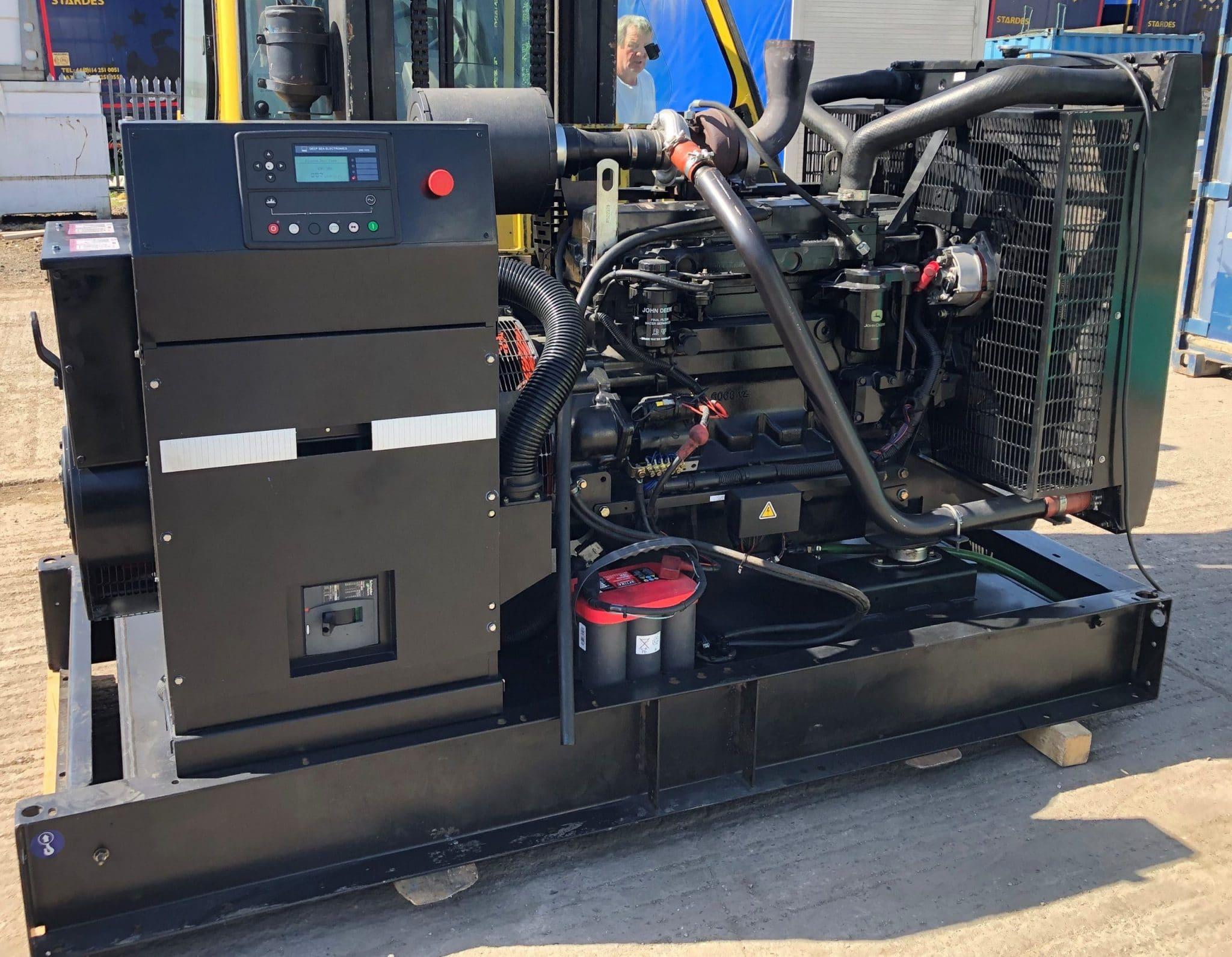 180 KVA John Deere Leroy Somer Open Type Generator