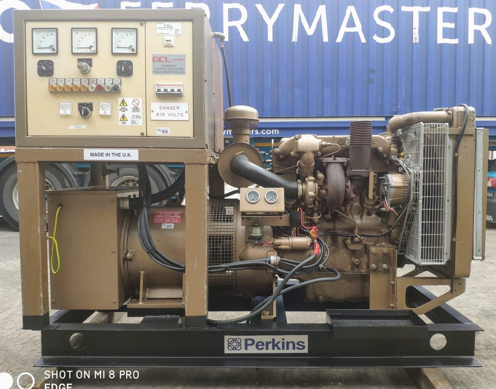 60 KVA Perkins Leroy Open Type  Generator