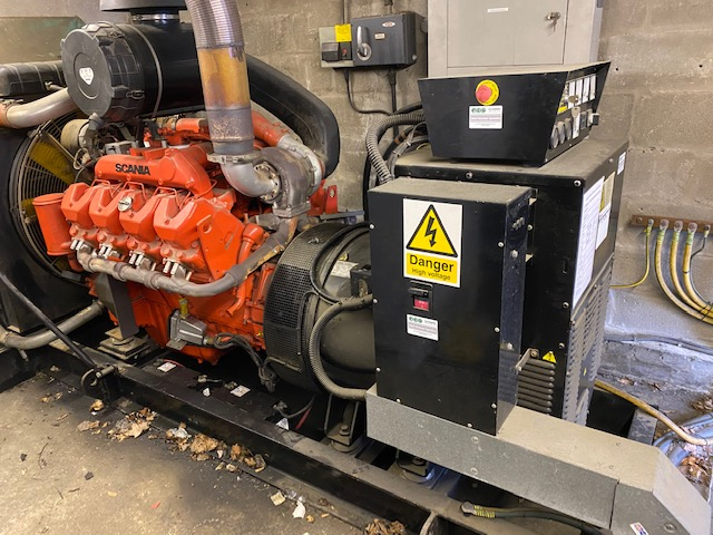 500 KVA Scania MeccAlte Open type  Generator