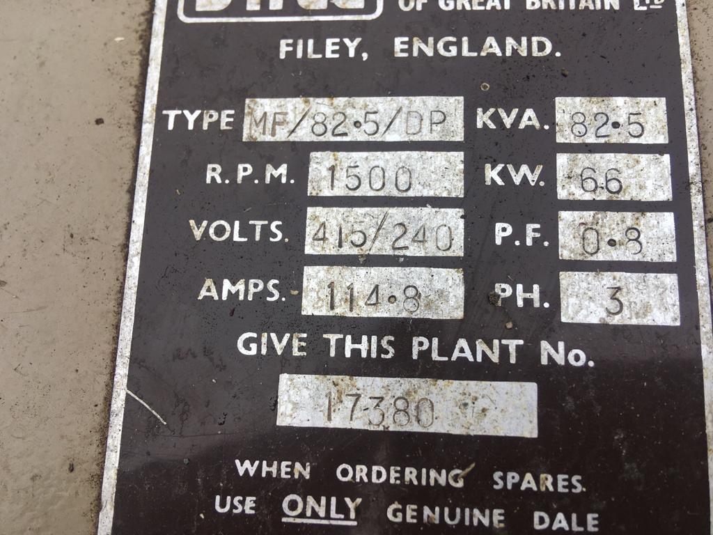 82 KVA Perkins Markon Open Type Generator 8