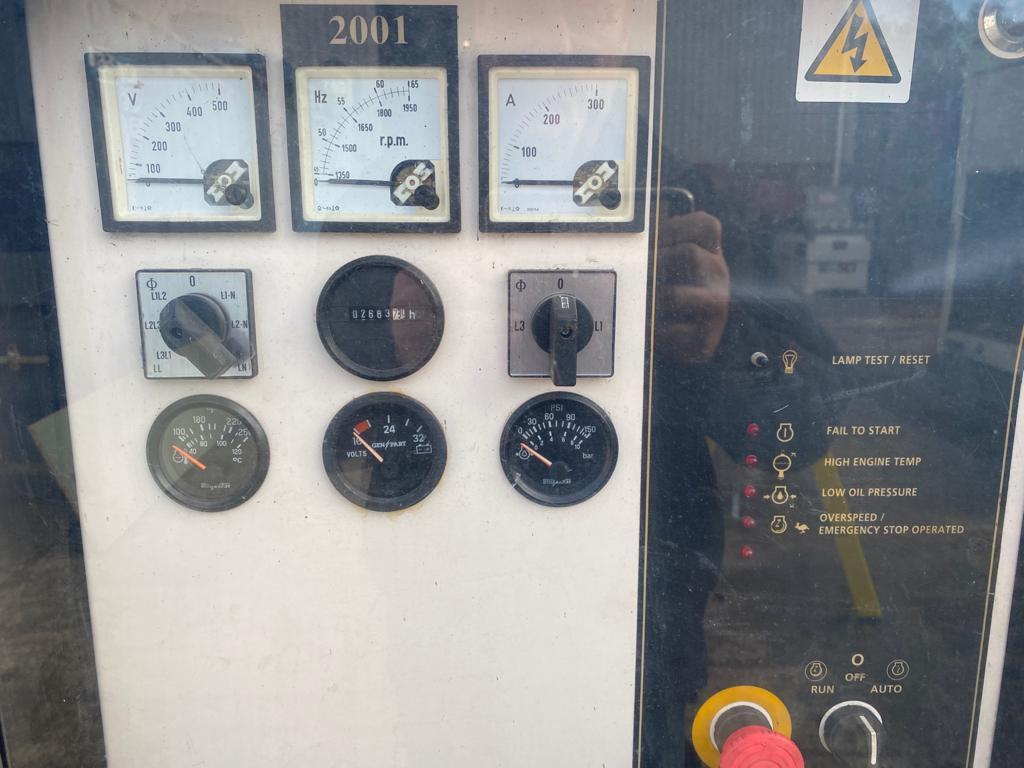 200 Kva FG Wilson Perkins/Leroy Somer Acoustic used diesel Generator