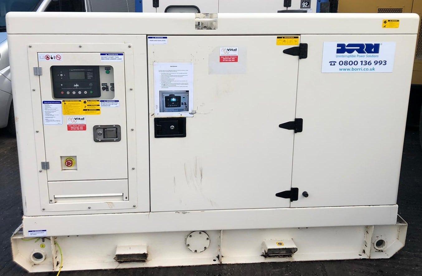 50 kVA Perkins/Leroy Somer Acoustic Generator  (Rental Specs)
