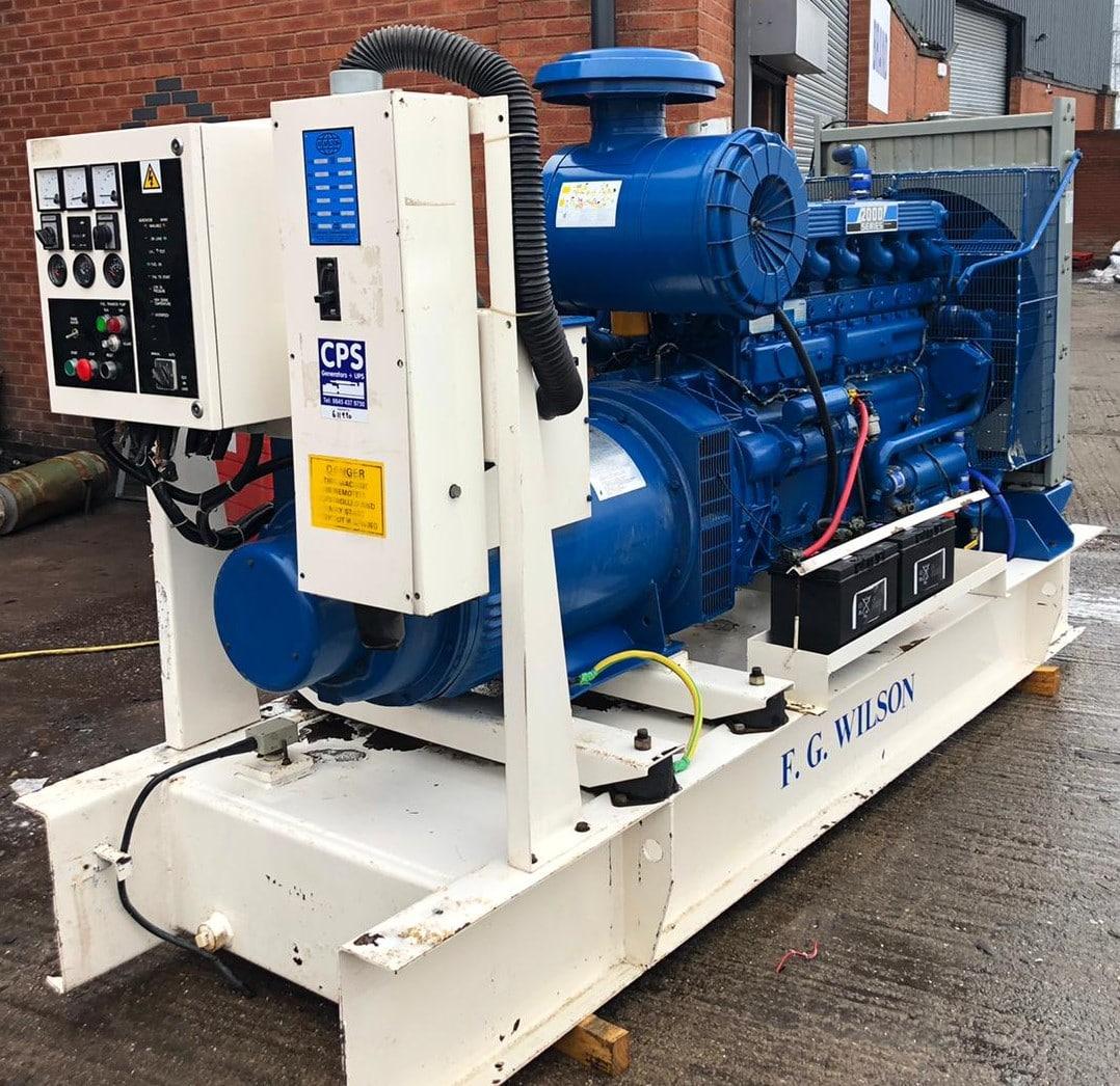 200 kVA FG Wilson Perkins/Stamford Open Type Generator for Sale