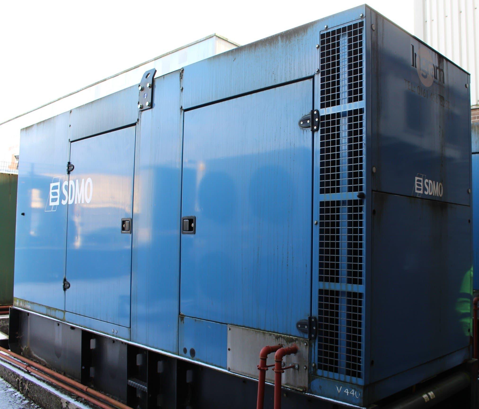 440 SDMO 440 kVA Volvo/Leroy Somer Acoustic  Generator