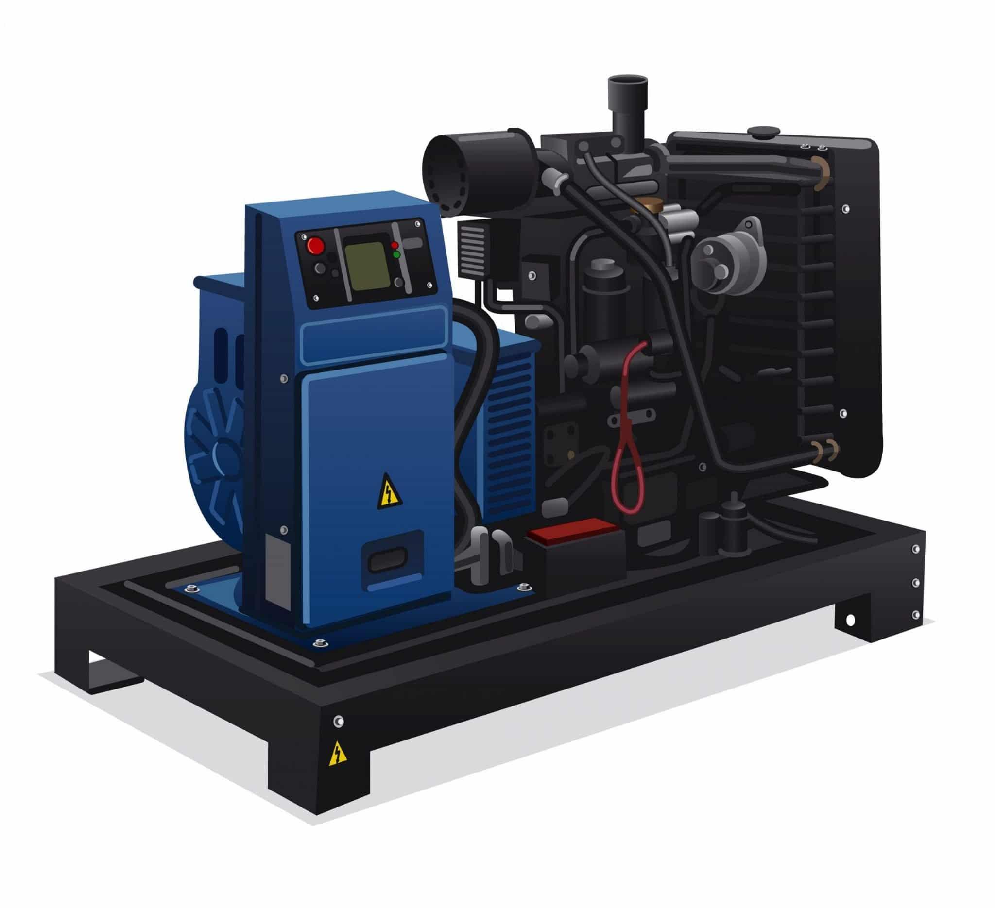 PWRBOX Perkins Stamford Open Type Diesel Generator Set