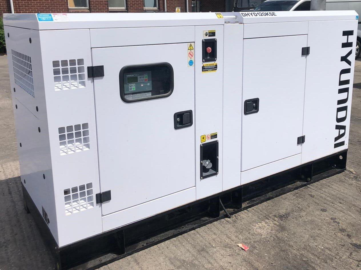 120 kVA Hyundai DHYD120KSE Deutz/Stamford Acoustic Generator for sale