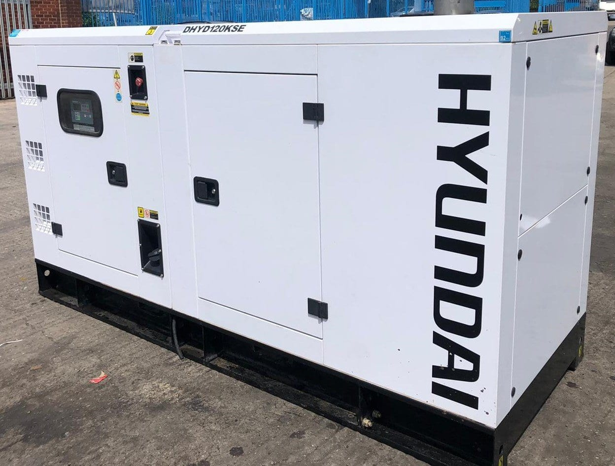 buy 120 kVA Hyundai DHYD120KSE Deutz/Stamford Acoustic Generator