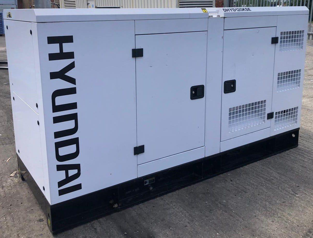 120 kVA Hyundai DHYD120KSE Deutz/Stamford Acoustic Generator