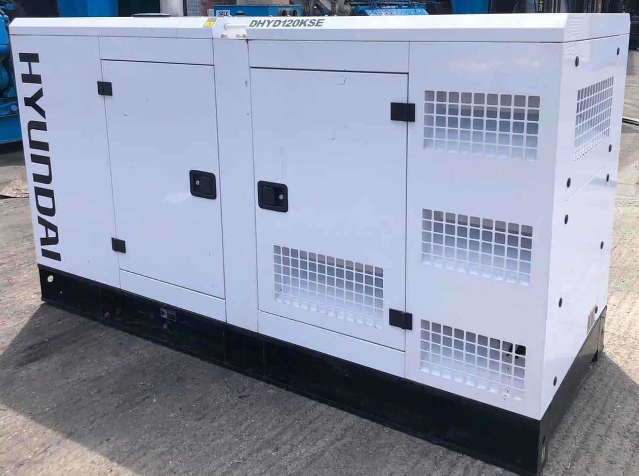 120 kVA Hyundai DHYD120KSE Deutz/Stamford Acoustic Generator 2