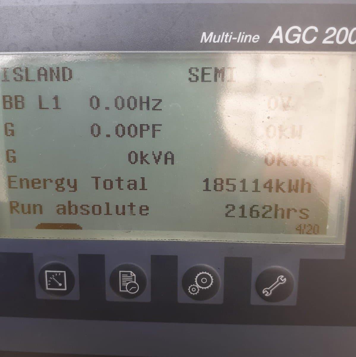 800 FG Wilson, Perkins/Stamford Generator usage hours