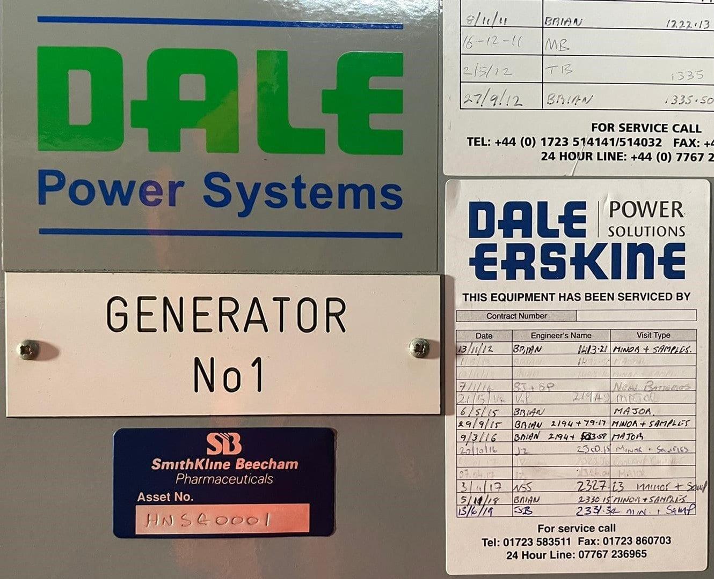 1500 kVA KTA50-G4 Cummins/Stamford Open Type Generator details