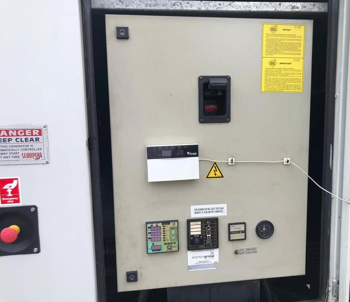 500 kVA Volvo/Stamford Acoustic Generator panel