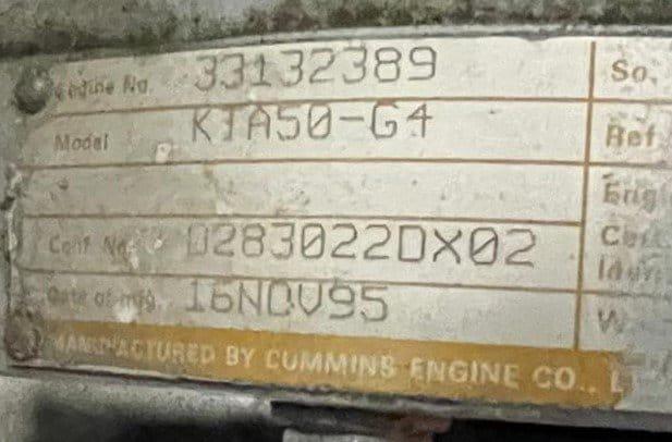 1500 kVA KTA50-G4 Cummins/Stamford Open Type Generator details 2