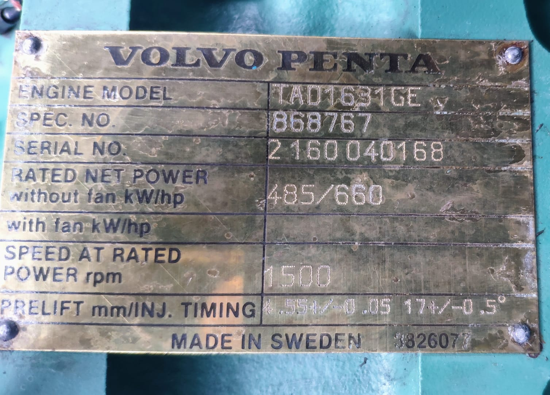 500 kVA Volvo/Stamford Acoustic Generator specs