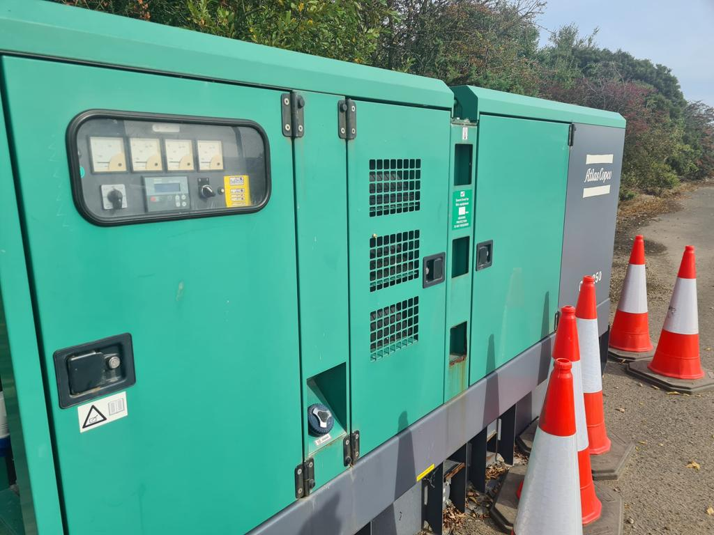 250 Kva  Dual Frequency  Stage 3A Volvo/Leroy Somer acoustic Generator