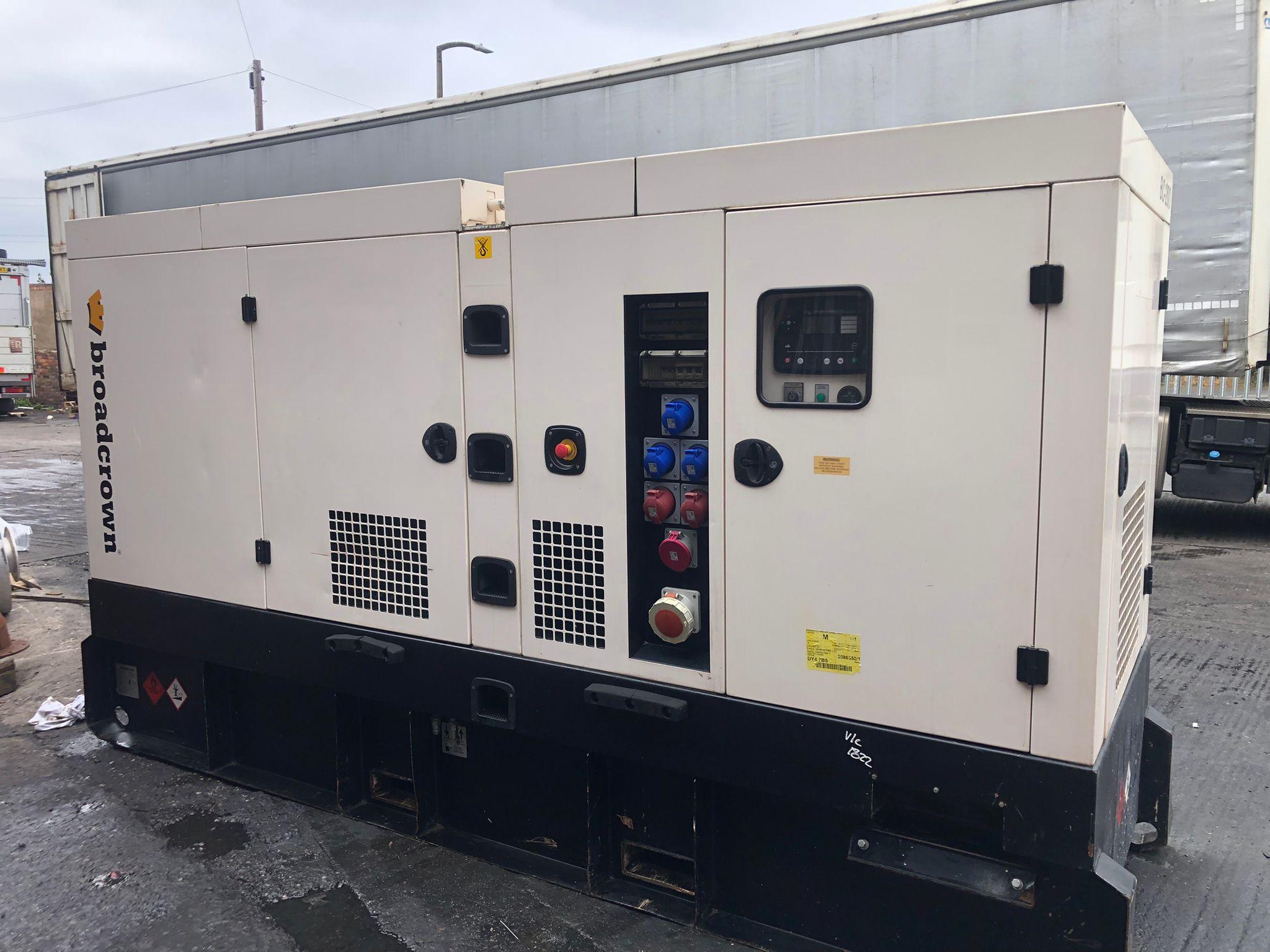 200 Kva  Broadcrown John Deere/Stamford  Acoustic Generator (Rental Specs)