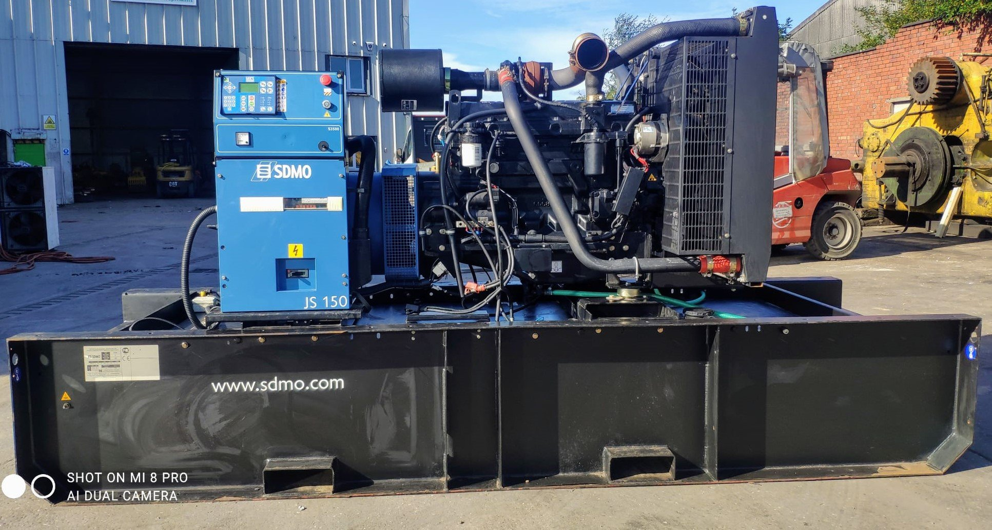 150 kva SDMO John Deere/ Leroy Somer Open Type Generator
